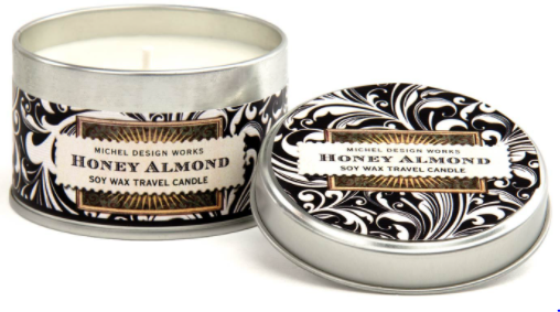 Honey Almond Soy Wax Travel Candle