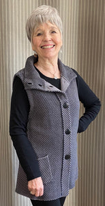 Diagonal Stitch Pocket Vest