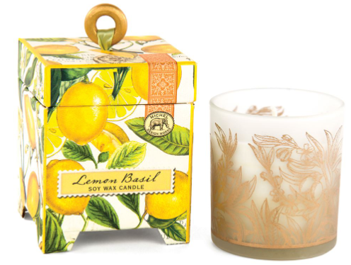 Lemon Basil Soy Wax Candle
