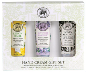 Lemon Basil, Lavender Rosemary, Honey Almond Set of 3 Hand Cream