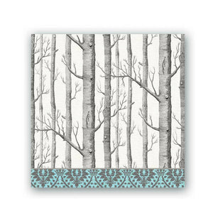 Silver Trees Cocktail Napkins