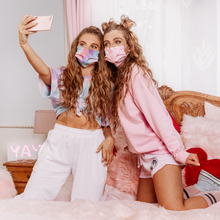 Load image into Gallery viewer, girls cotton face masks home printed to match their outfits