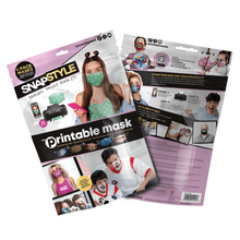 Load image into Gallery viewer, SNAPSTYLE - The Printable Mask, 4 Pack Kit