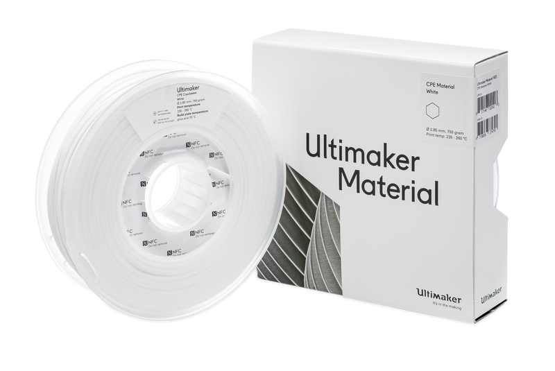 Filamento Ultimaker CPE M0188 Blanco -  2.85mm -  750 g