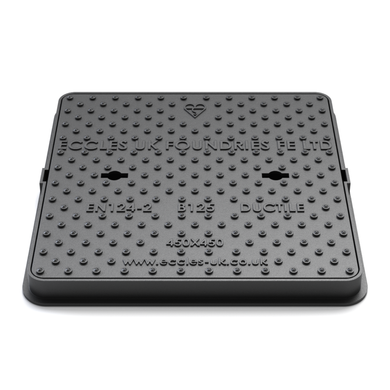 SOLID TOP MANHOLE COVER 450 X 450 X 42MM B125 - Plastechtitan