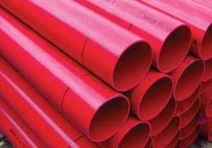 125MM RED CLASS 1 CABLE DUCT X 3 MTR S/S - Plastechtitan