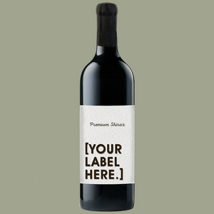 A bottle of Fowles Wine Premium Shiraz with a FowlesDIY customised wine label