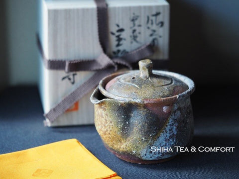 Bizen Wood Fired Houhin Yellow Ash 備前宝瓶