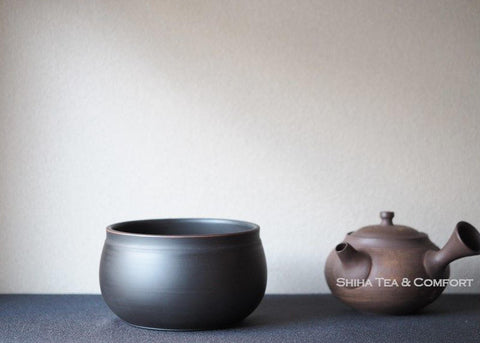 Reiko Black Silky texture Water Drain Bowl  Tea-Pond 鯉江廣玲光建水