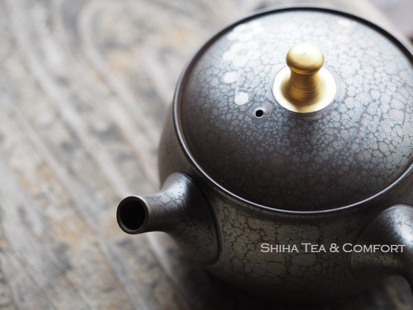 SHORYU Plum Flower Oil Drops Teapot 昭龍梅花