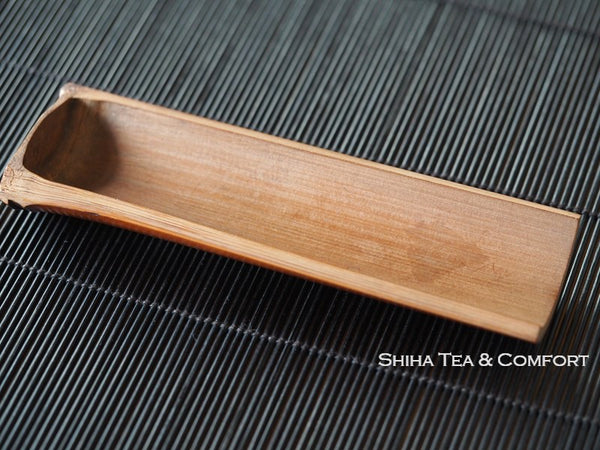 Senchado Tea Measure Bamboo Spoon Sago Used 50 years 茶則茶合二手