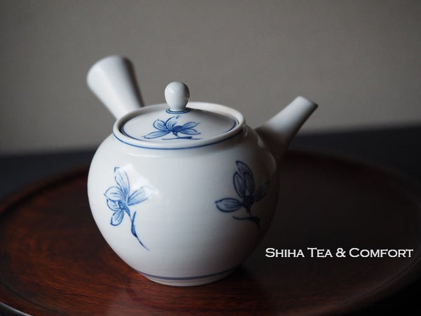 KYOTO Blue & White Orchid Porcelain Small Teapot 清昌磁壺