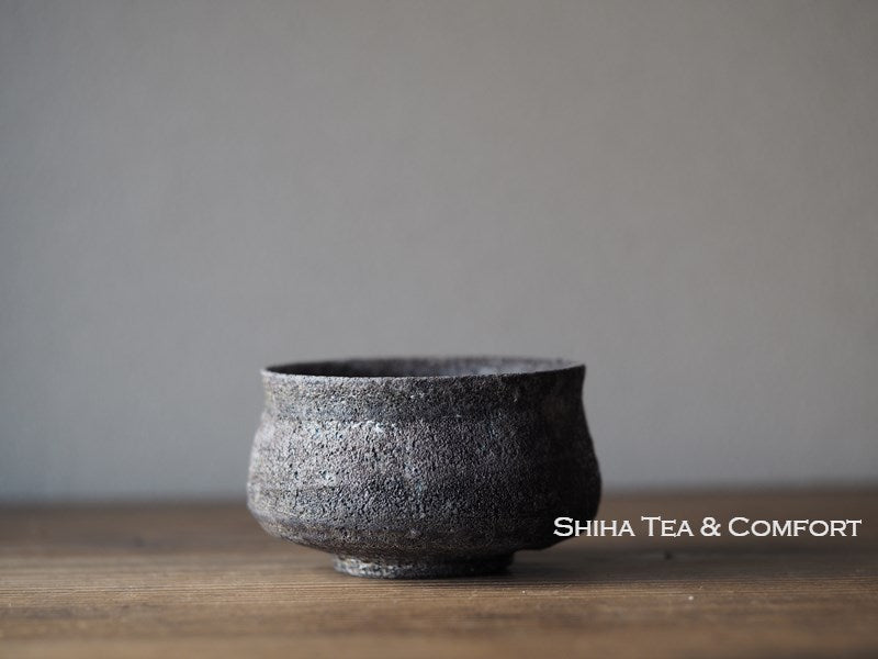 Wood Fired SUZU Ware Shinohara Takashi Black Cup 珠洲篠原敬8