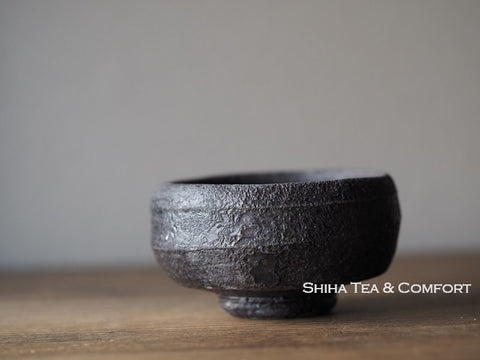 Wood Fired SUZU Ware Shinohara Takashi Black Cup 珠洲篠原敬 67