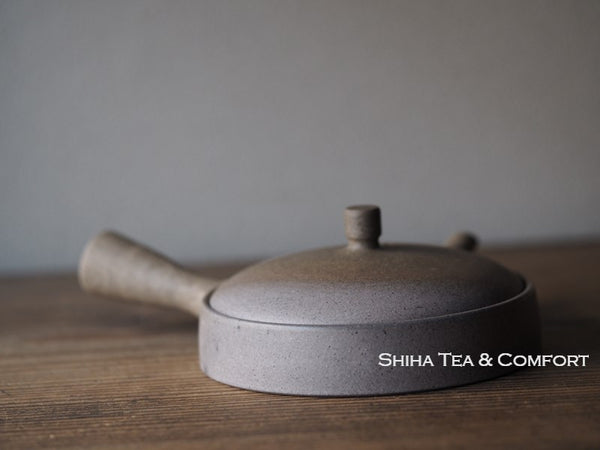 JINSHU Flat Gradation Teapot (Wood Box with artist's signature (certificate) ) 甚秋自然色