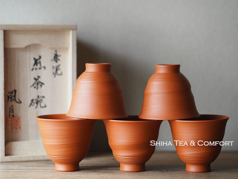 Murakosh Fugetstu Red Clay Sencha Cup Set 風月煎茶碗