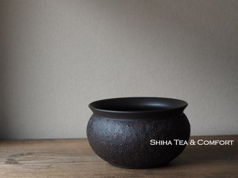 Reiko Black & Red Water Drain Bowl Tea-Pond 鯉江廣玲光建水