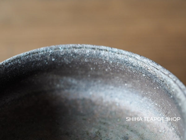 Pine Tree Wood Fired SUZU-yaki Shinohara Takashi Black & Ash Cup 珠洲篠原敬B2