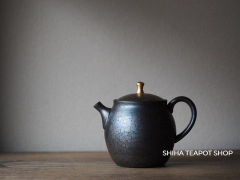 SHORYU Oil Drop Red & Gold Lid  Back Handle Teapot 昭龍油滴 Discount