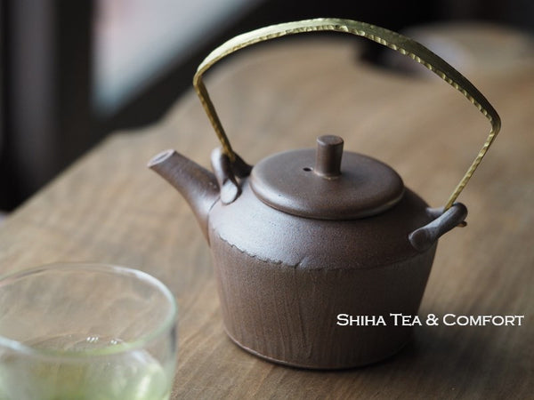 JINSHU Metal Top Handle Browns Teapot