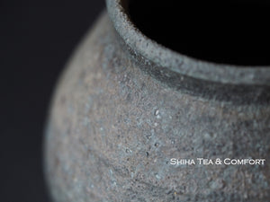 SUZU SHINOHARA Wood Fired Black Pot  珠洲篠原敬