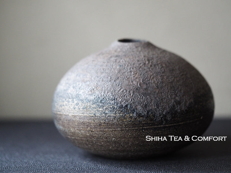Pine Tree Wood Fired SUZU Ware Shinohara Takashi Vase 珠洲柴焼