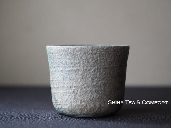 Cedar Wood Fired SUZU Ware Shinohara Takashi Black&Ash Cup 珠洲柴焼