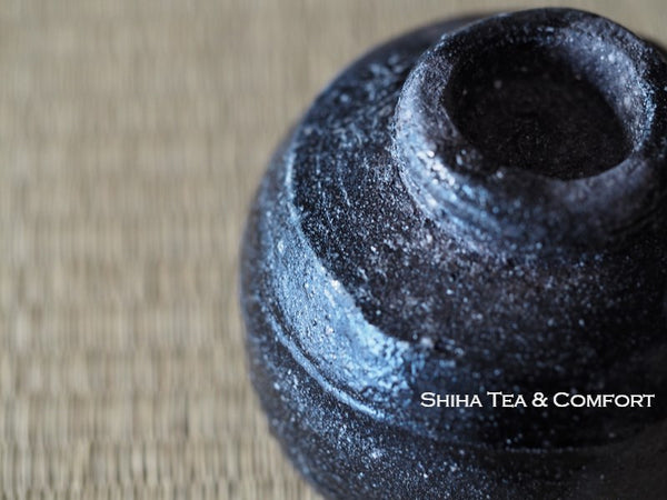 Wood Fired SUZU-YAKI Black & Ash Cup Shinohara Takashi 珠洲篠原敬