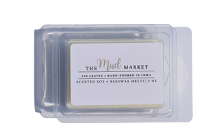 Hand-poured autumn scented wax melts are made with 100% American Soy Wax and premium fragrance oils ad poured in a clamshell mold..