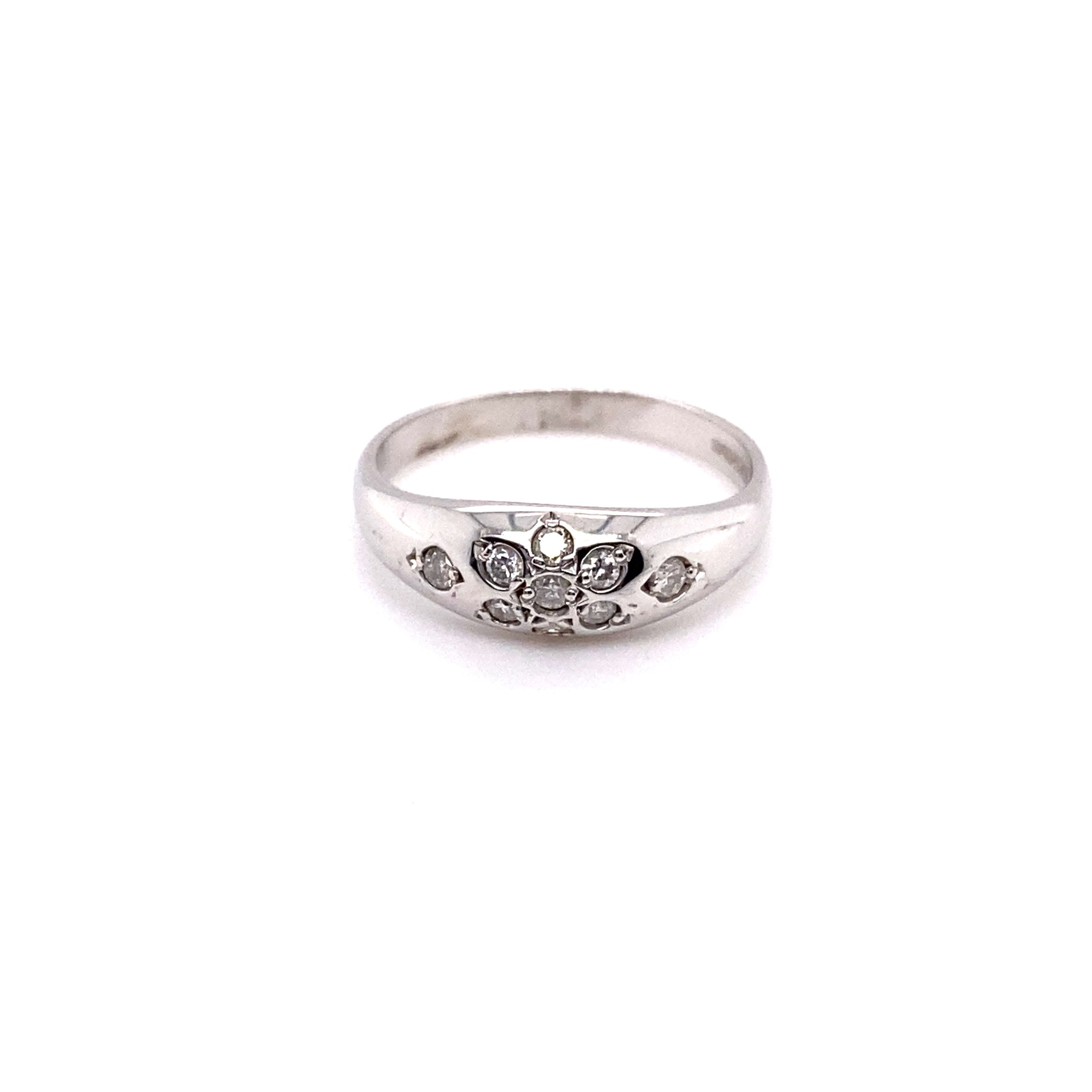 9ct White Gold 0.15ct Diamond Set Band Ring - Sonny's Jewellers