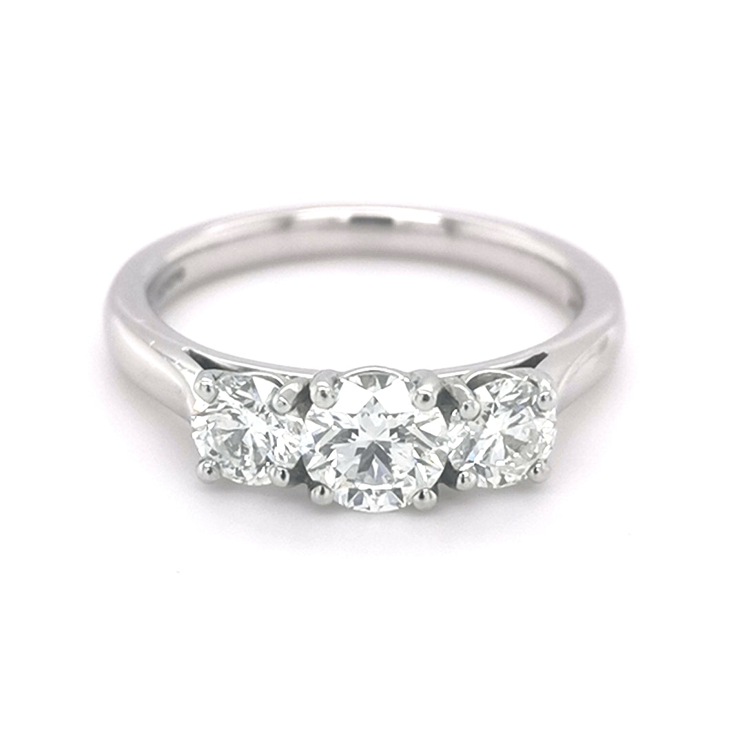 Platinum Diamond Trilogy Ring - Sonny's Jewellers