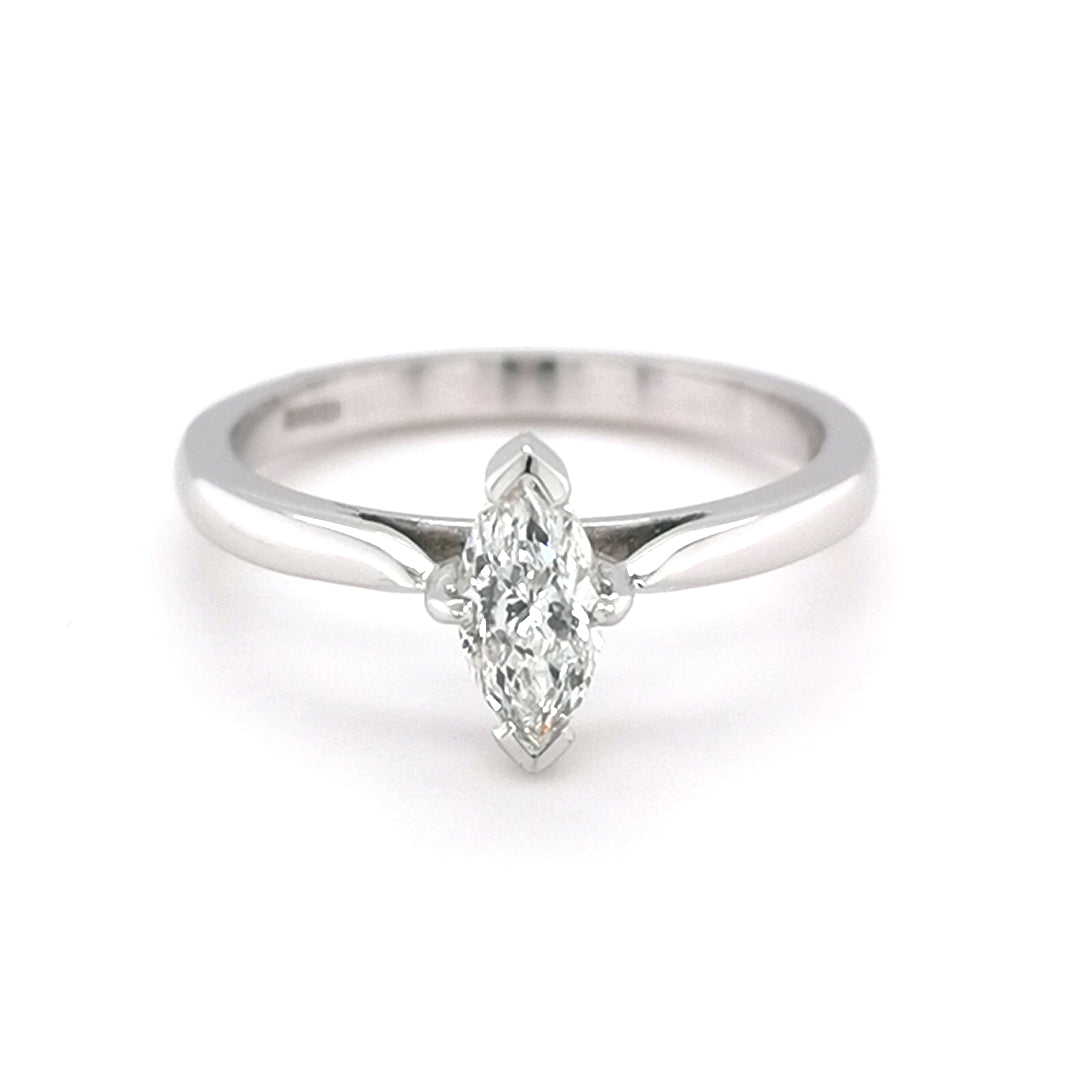 18ct White Gold 0.45ct Marquise Cut Diamond Ring - Sonny's Jewellers