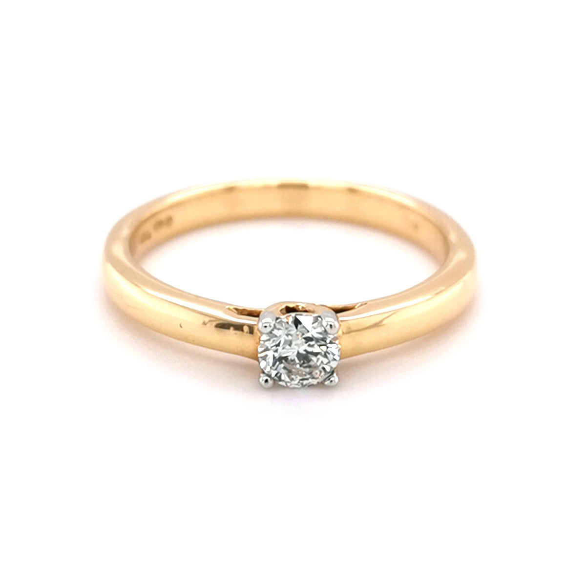 18ct Yellow Gold Solitare 0.24ct Diamond Ring - Sonny's Jewellers
