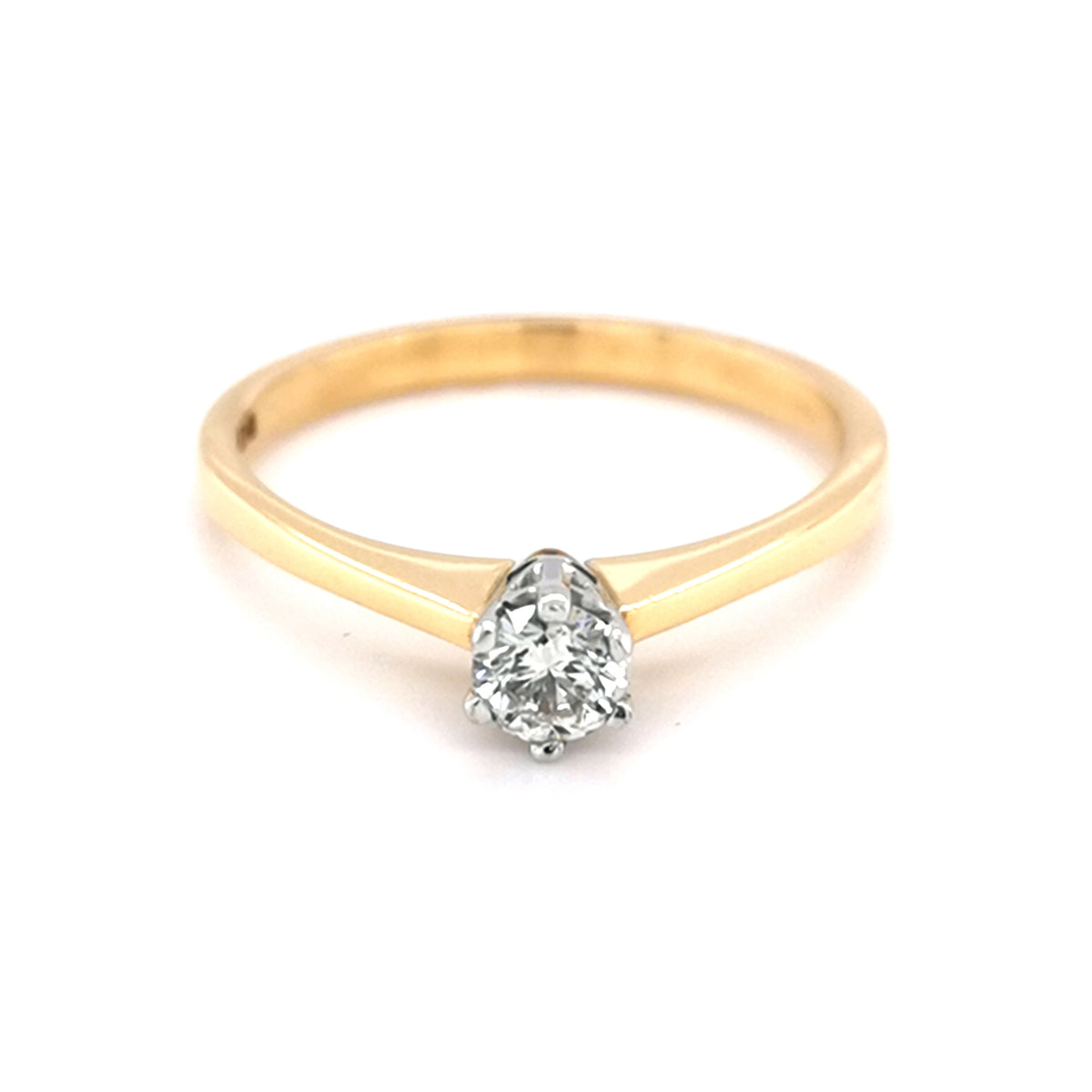18ct Yellow Gold 0.25ct Diamond Solitare Ring - Sonny's Jewellers