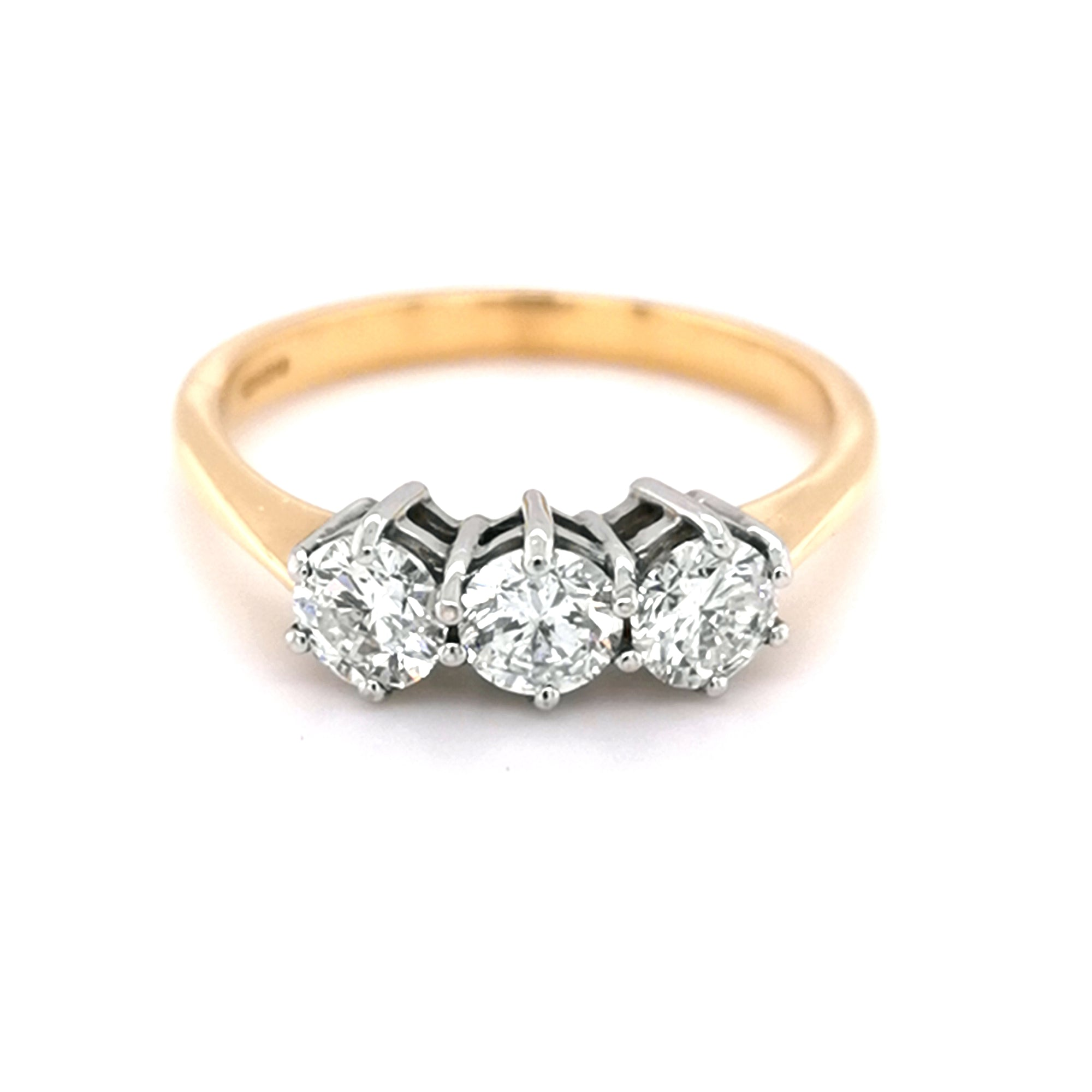 18ct 6 claw Diamond Trilogy  Ring - Sonny's