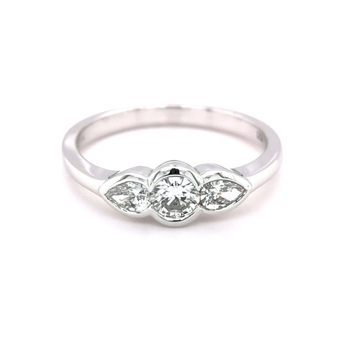 18ct Pear & Round Trilogy Diamond Ring - Sonny's Jewellers