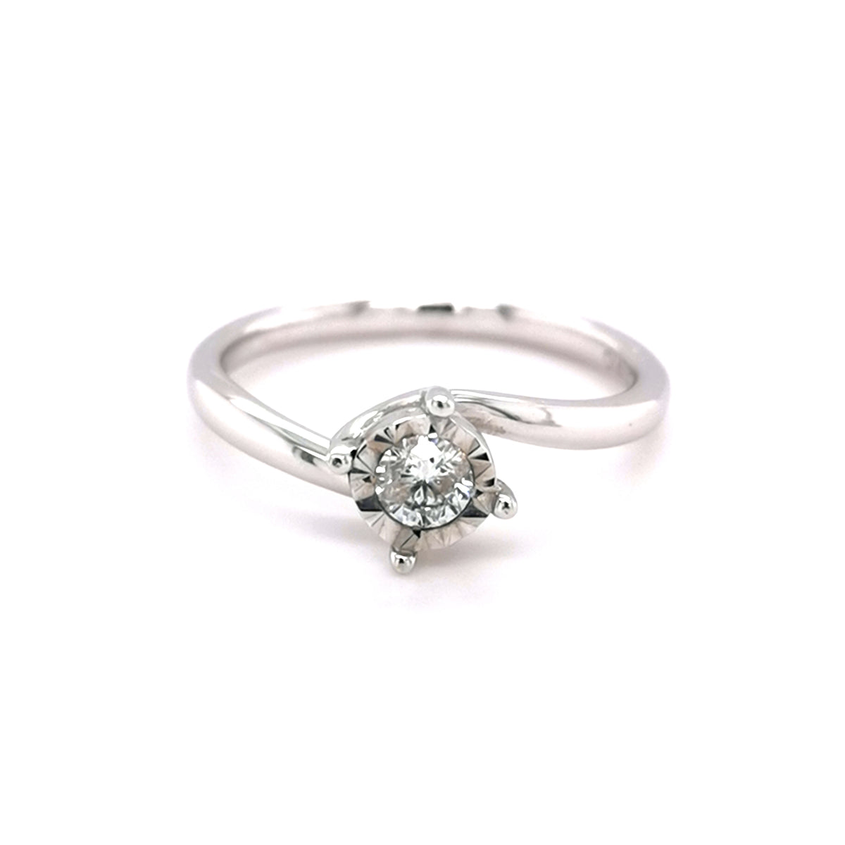 9ct White Gold 0.25ct Solitaire Ring - Sonny's