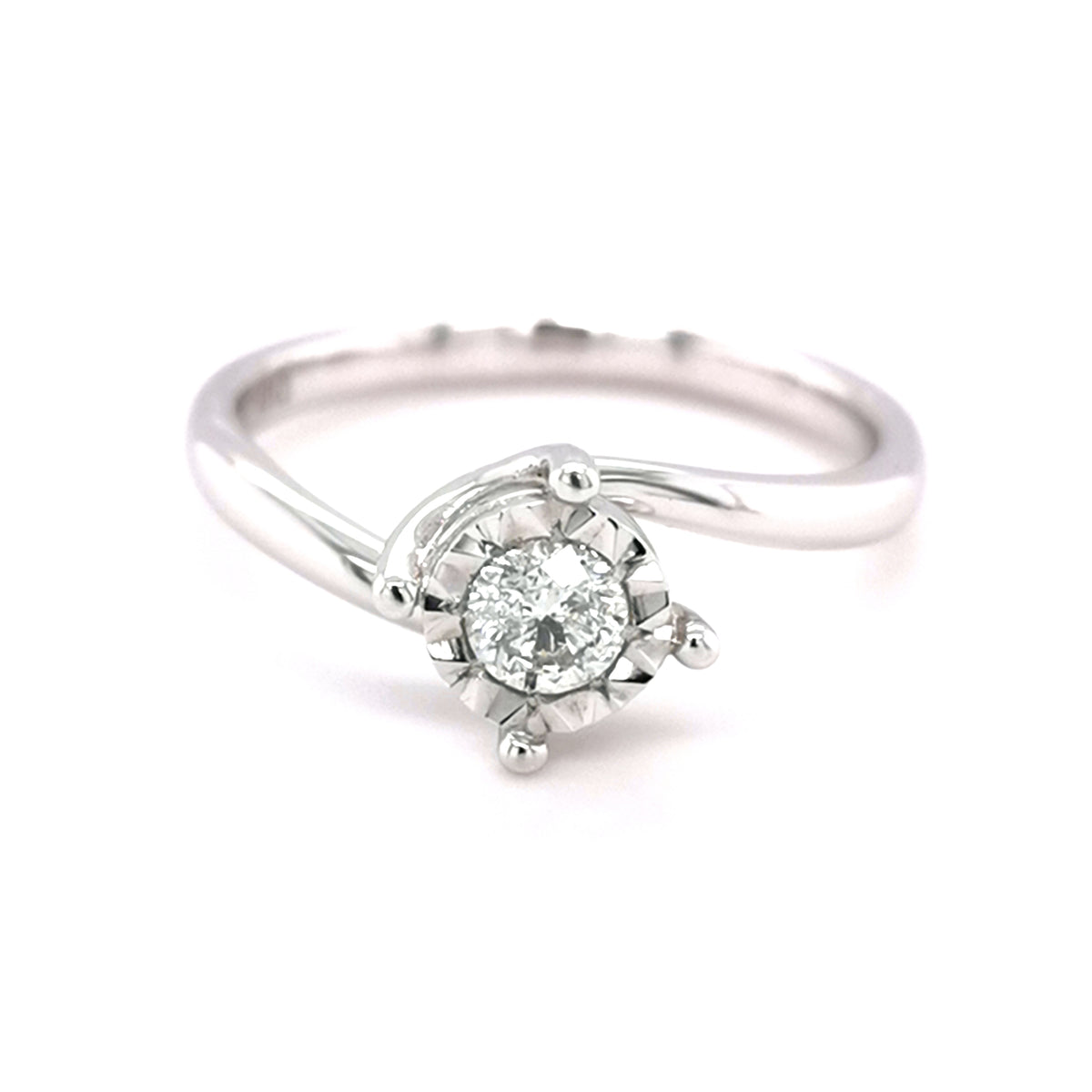 9ct White Gold 0.33ct Solitaire Ring - Sonny's