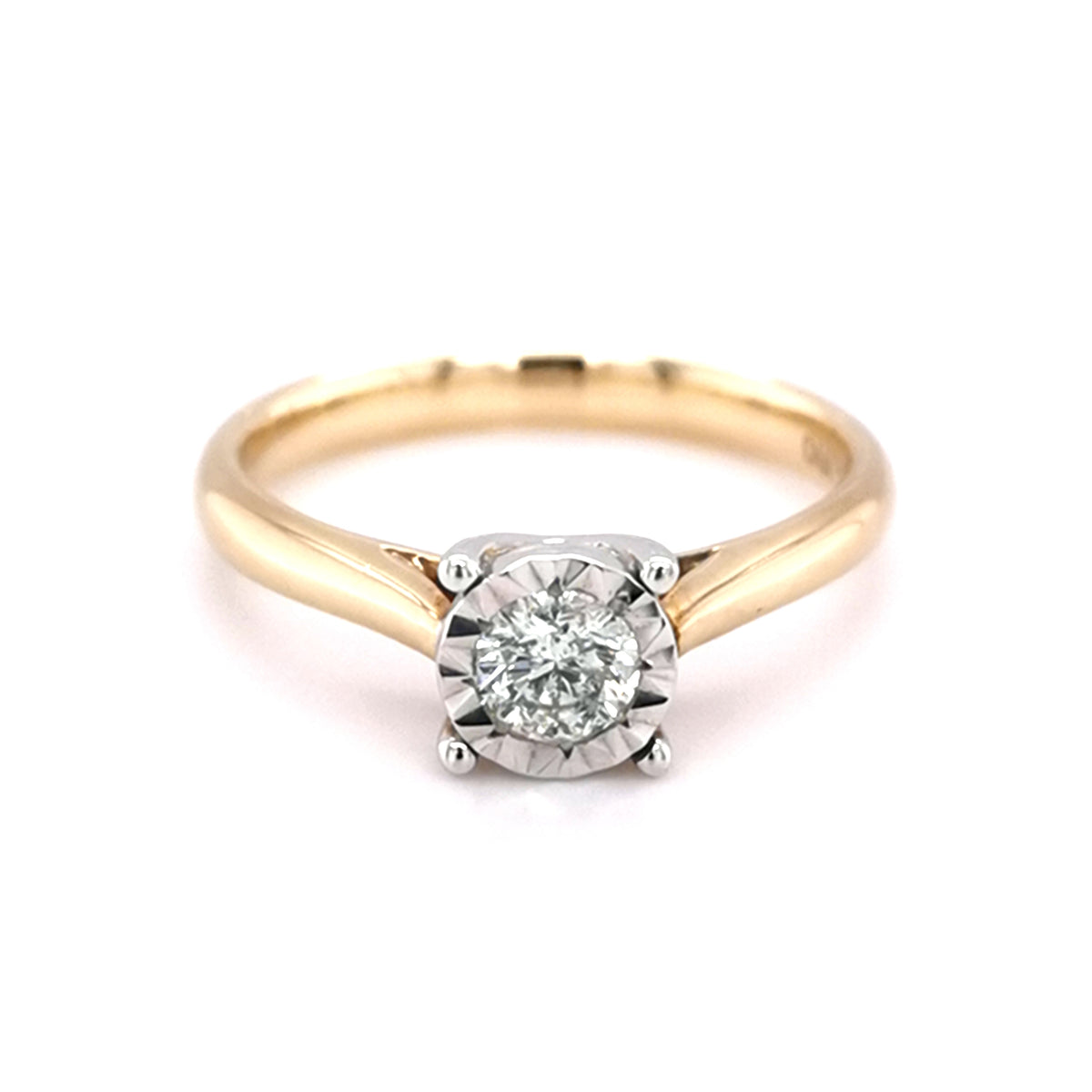 9ct Yellow Gold 0.33ct Diamond Solitaire Ring - Sonny's Jewellers