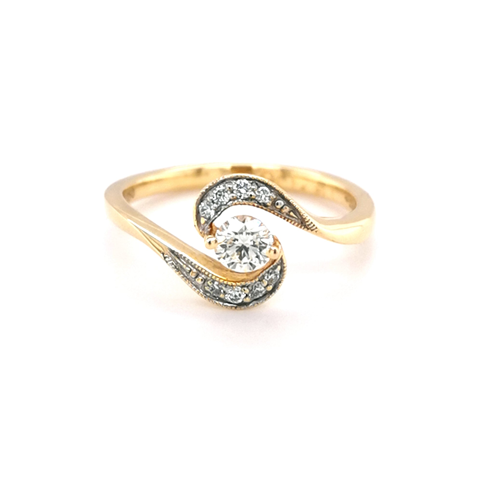 18ct Yellow Gold 0.25ct Diamond Dress Ring - Sonny's Jewellers