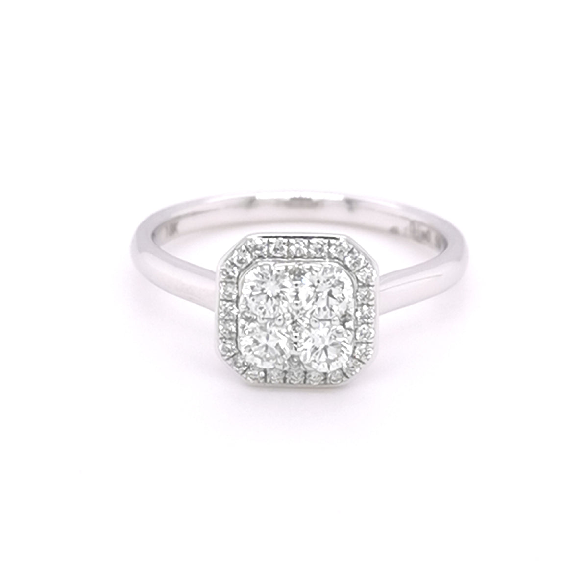 18ct White Gold 0.50ct Diamond Set Cluster Ring
