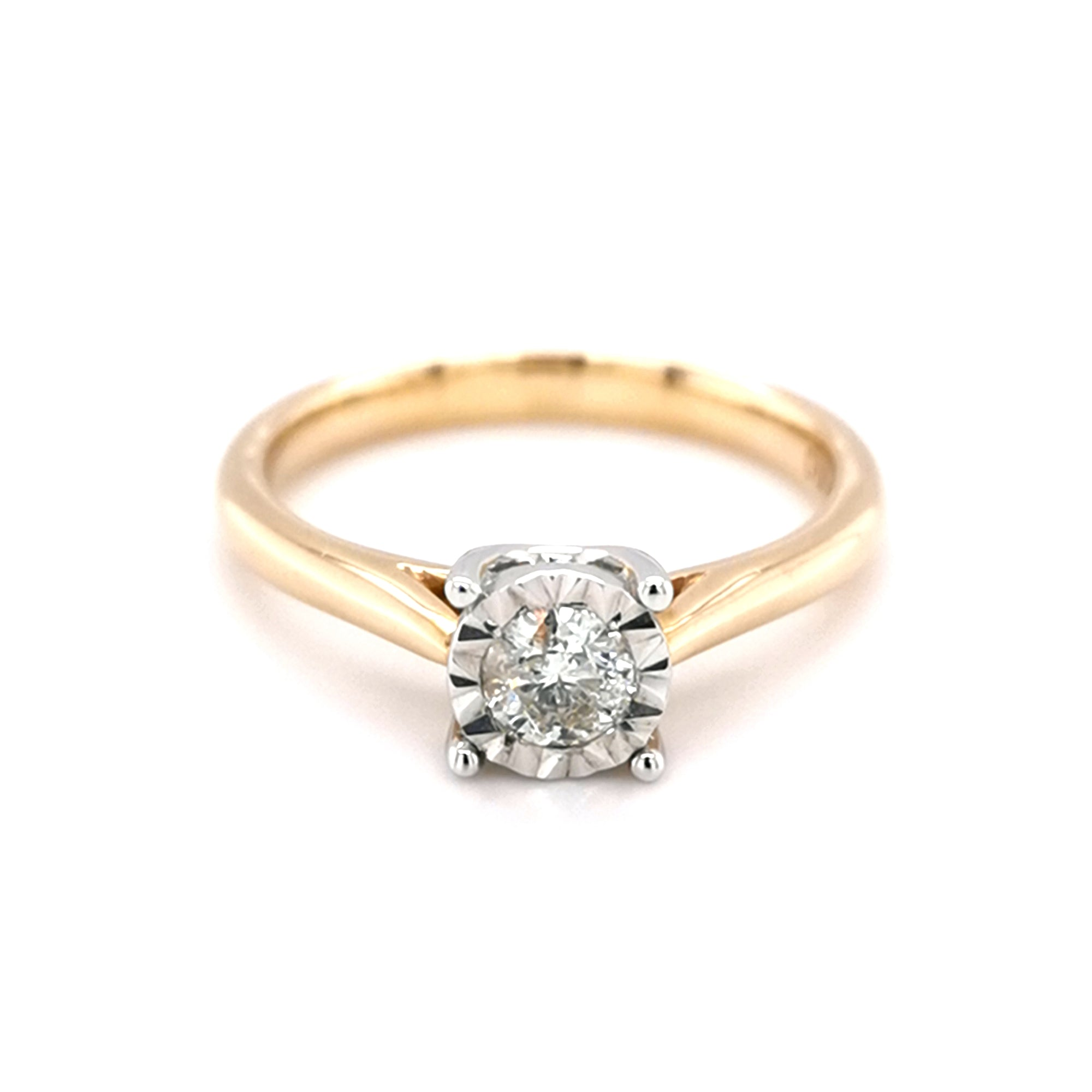 9ct Yellow Gold 0.25ct Diamond Solitaire Ring - Sonny's