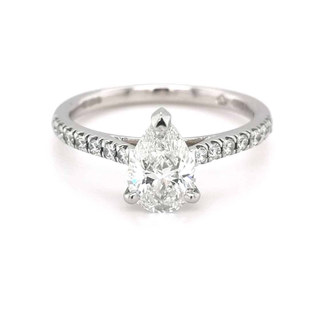 Platinum 1.20ct Pear Diamond Solitaire Ring - Sonny's