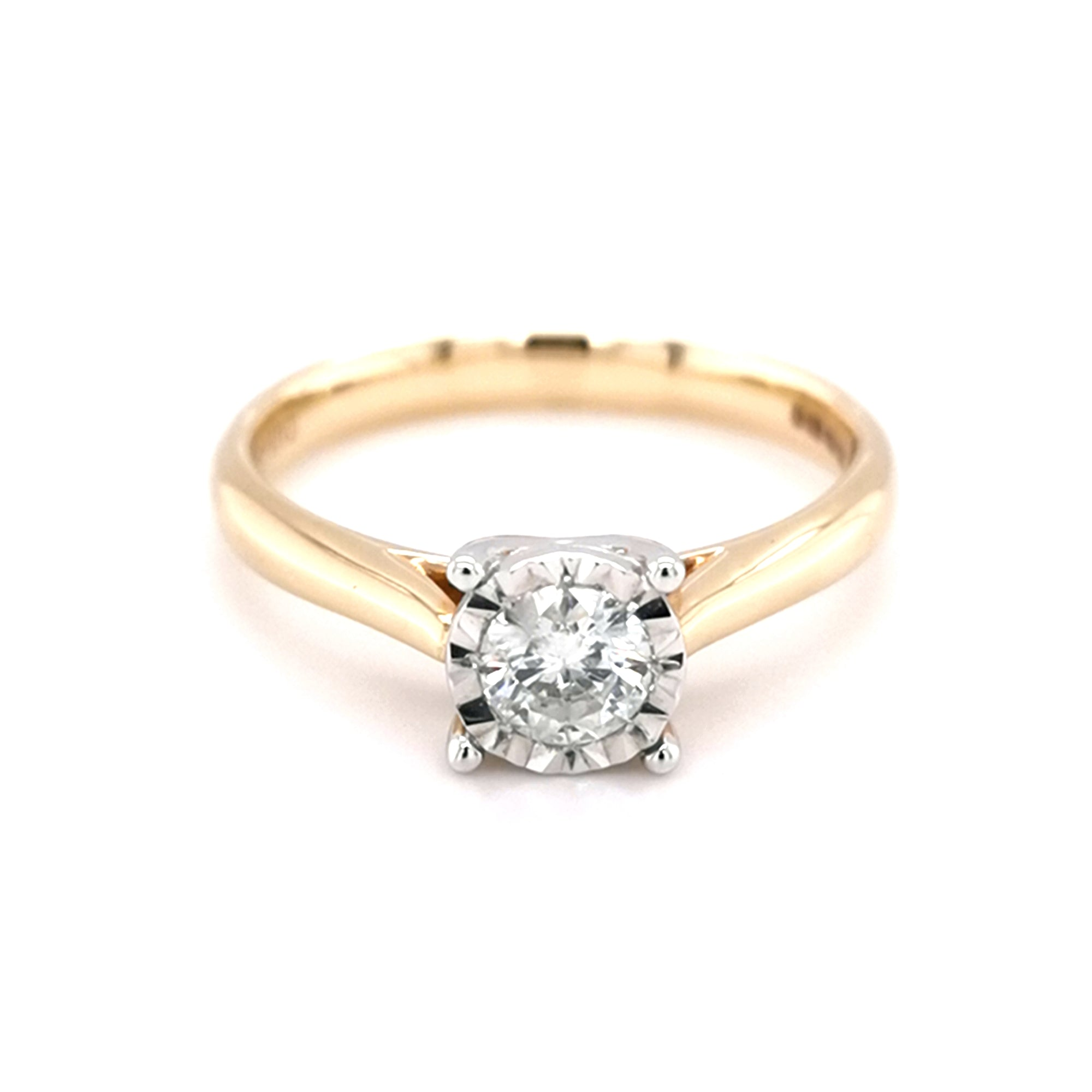 9ct Yellow Gold 0.33ct Diamond Solitaire Ring - Sonny's