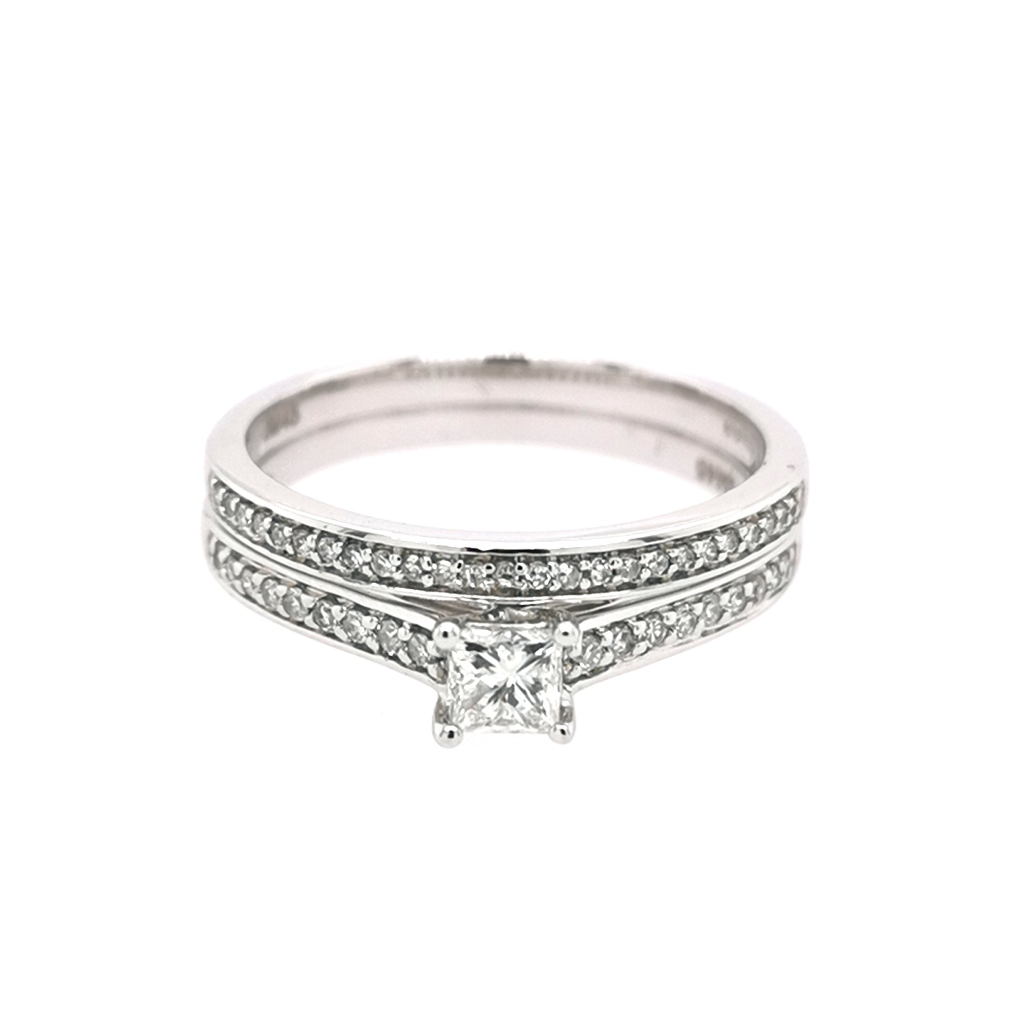 9ct White Gold Diamond Bridal Set 0.43ct - Sonny's Jewellers