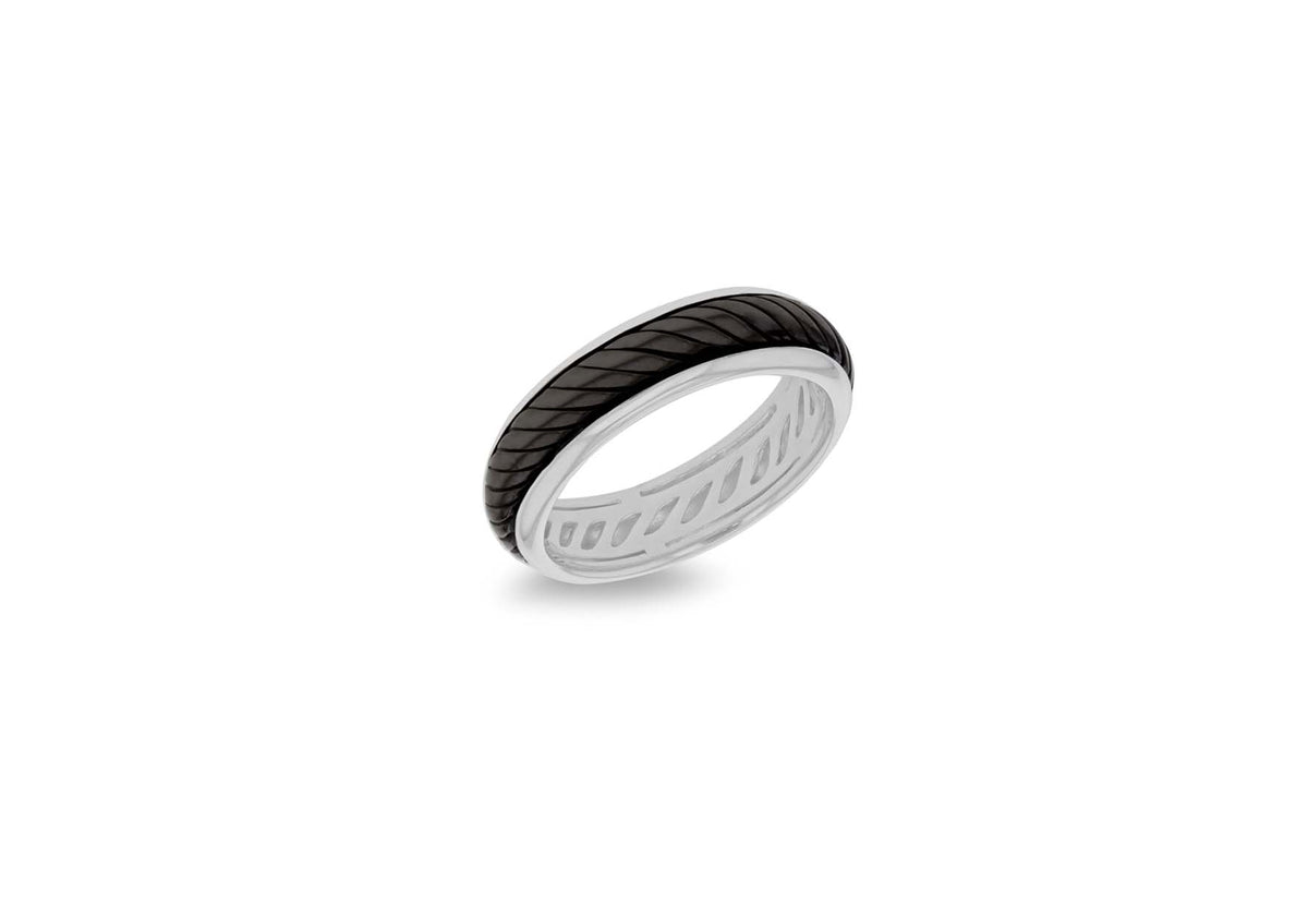 Sterling Silver Black Ring