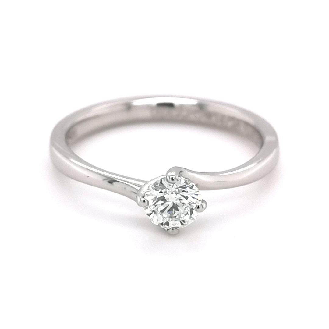 Platinum 0.40ct Solitaire Round Brilliant Cut Diamond Ring - Sonny's Jewellers