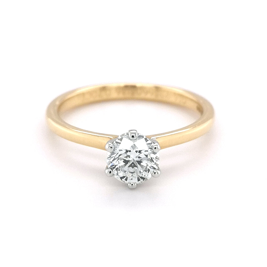18ct Yellow Gold 0.70ct Round Brilliant Cut Diamond Ring - Sonny's Jewellers