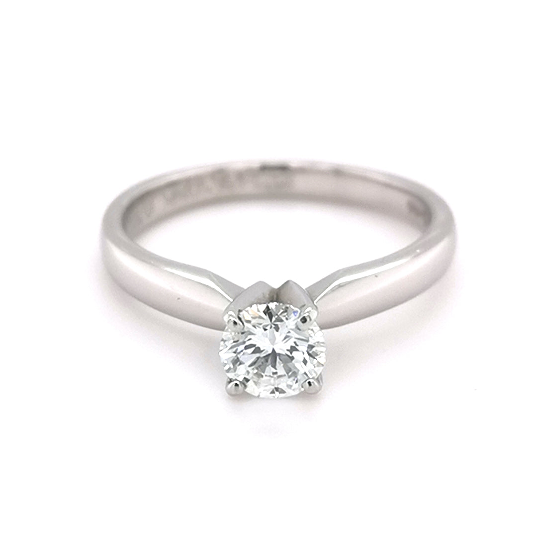 Platinum 0.50ct Solitaire Round Brilliant Cut Diamond Ring - Sonny's Jewellers