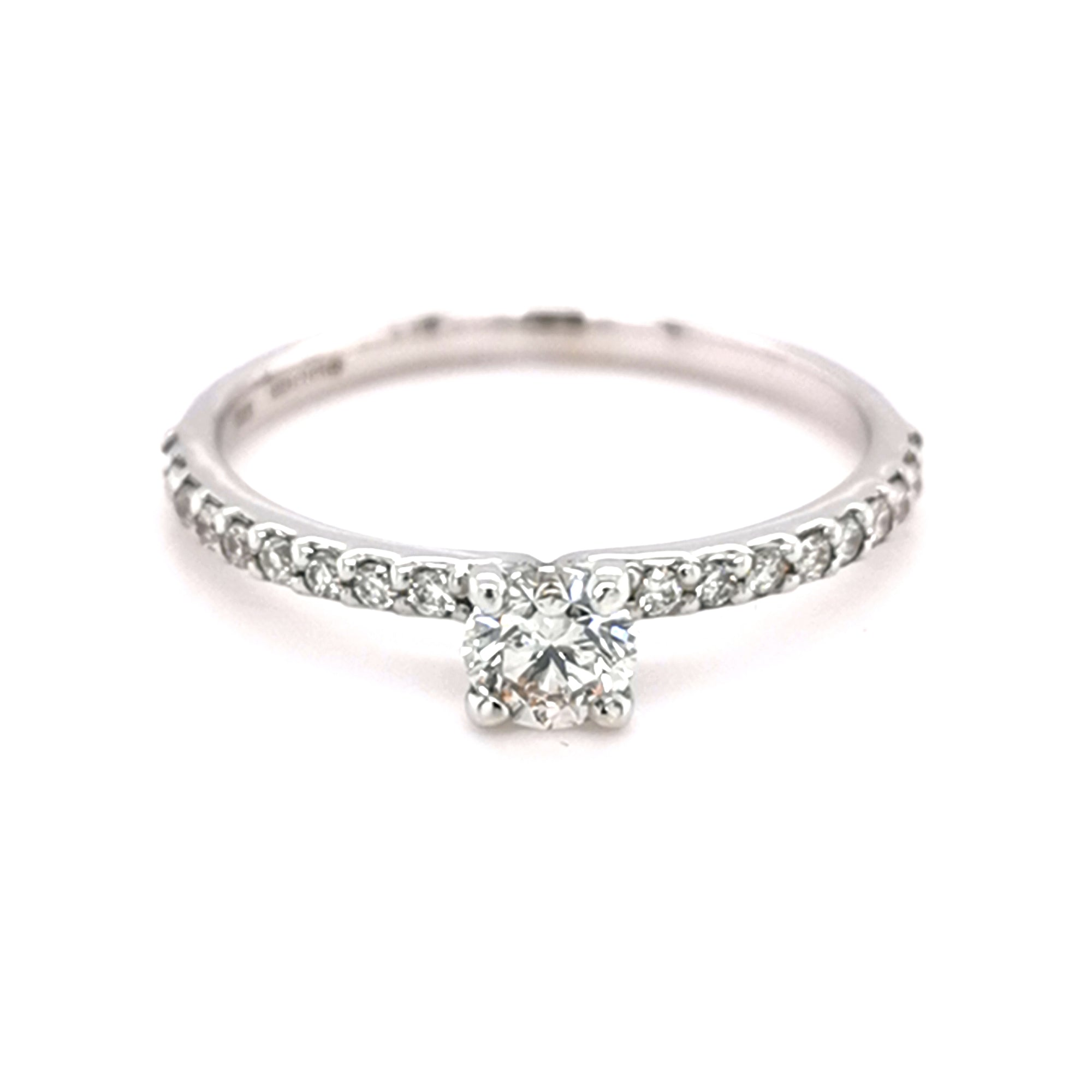 9ct White Gold 0.40ct Diamond Solitaire Ring - Sonny's